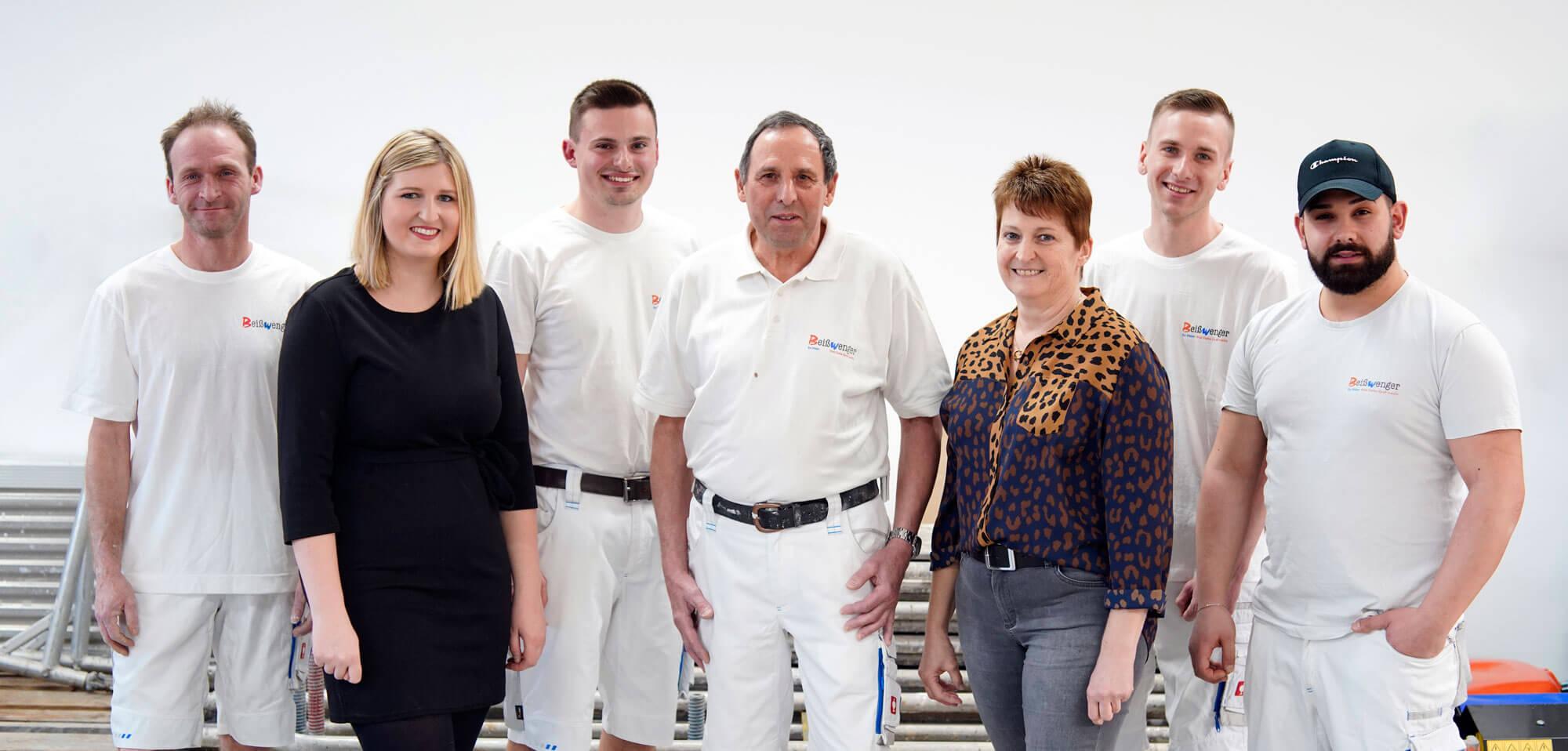 Team vom Maler-Fachbetrieb Beißwenger